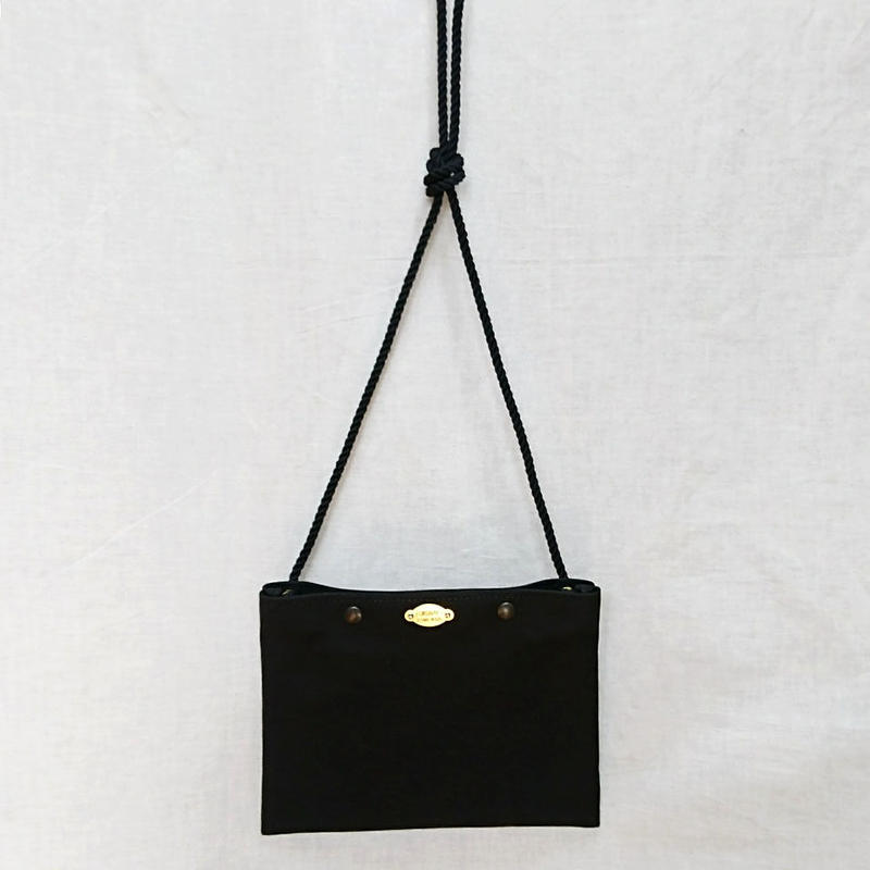 FUKURAFT / Japanese Canvas Sacoche  / BLACK (FR-0033)