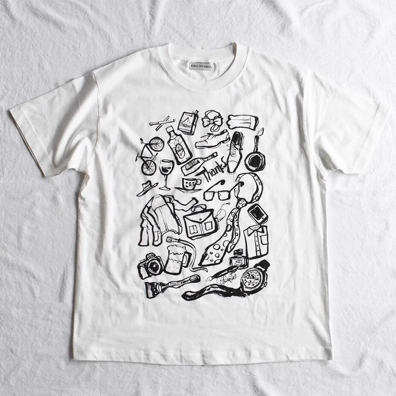 オーガニックコットンのイラストTシャツ
