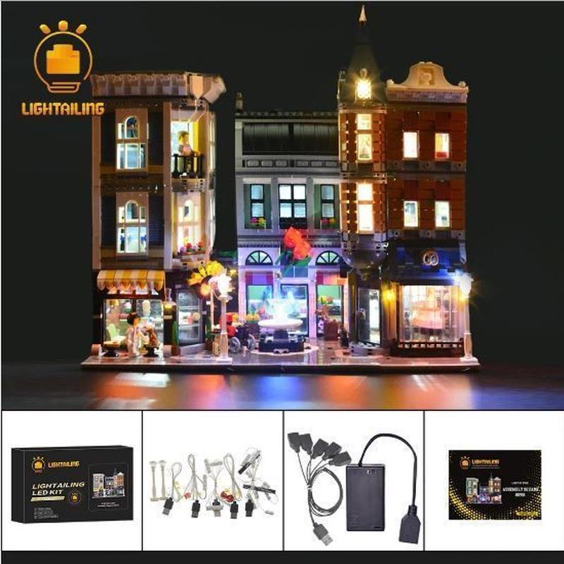 レゴ 10255 アセンブリ スクエア ライトアップセット [LED ライト キット+バッテリーボックス]