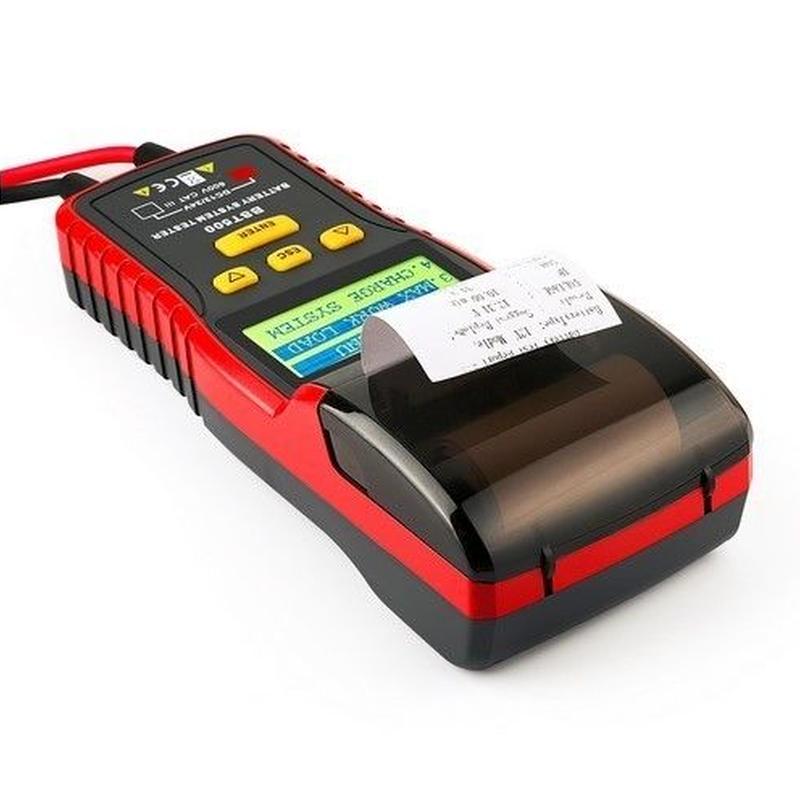 【正規品】BST500 12V& 24V 車 バッテリーテスター 自動車診断ツール サーマルプリンター内蔵