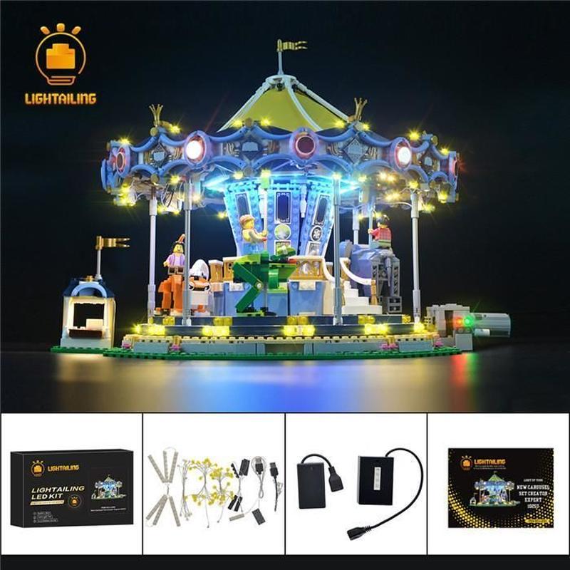 レゴ 10257 カルーセル メリーゴーランド ライトアップセット [LEDライトキット+バッテリーボックス]