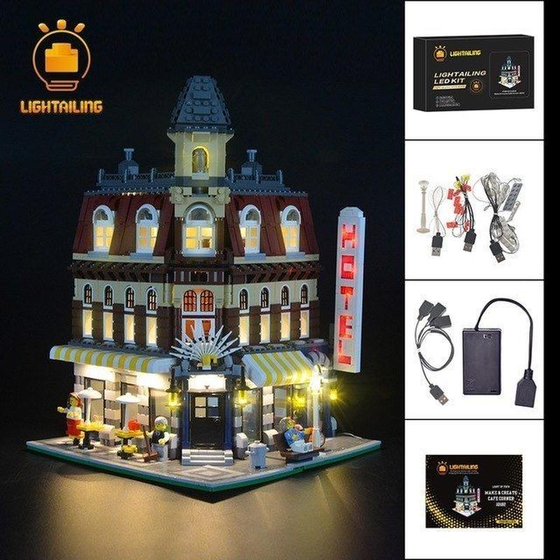 レゴ クリエイター 10182 カフェコーナー ライトアップセット [LEDライトキット+バッテリーボックス]