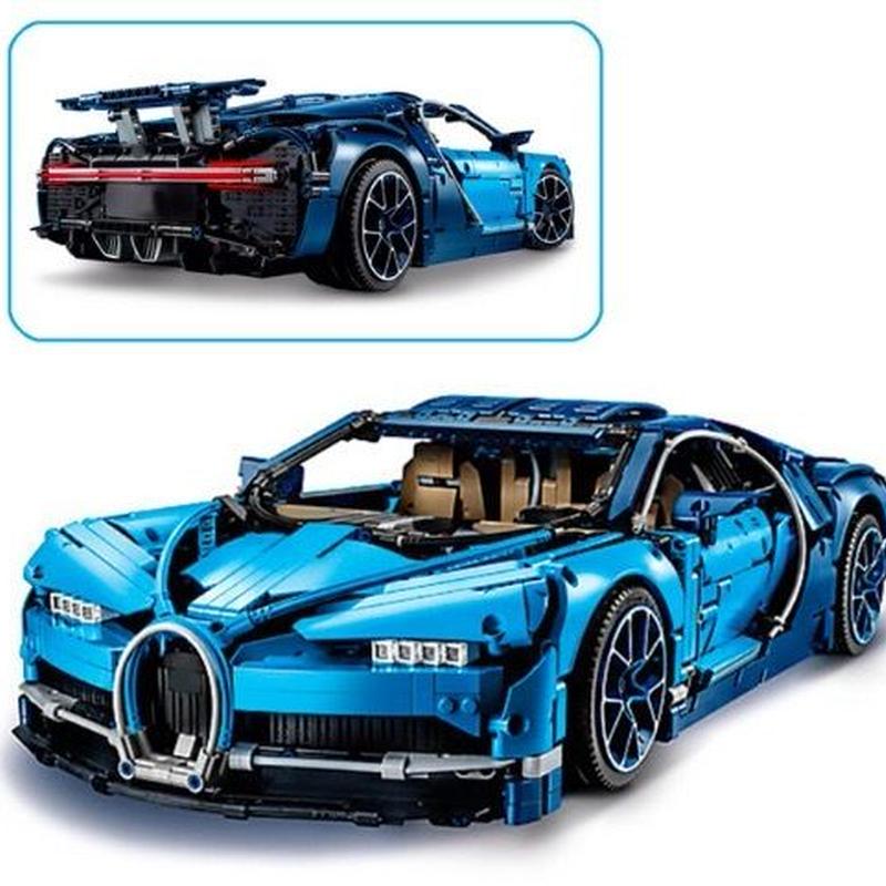 人気!レゴ 42083 ブガッティ・シロン テクニック 互換品 【日本未発売・最新モデル】スーパーカー レースカー (lepin)ブルー 20086 欠パーツ保証