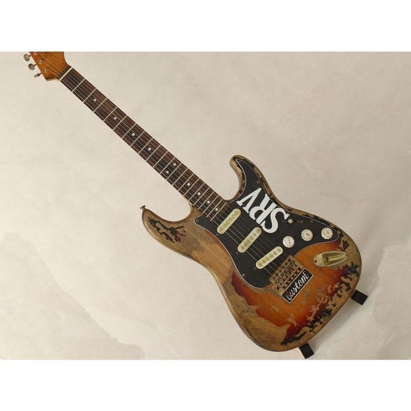 SRV スタイル タイプ アンティーク調 エレキギター 初心者 扱いやすい Stevie Ray Vaughan グローバルカスタム ギターのみ