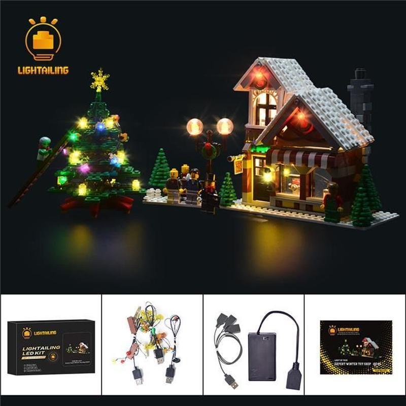 レゴ 10249 冬のおもちゃ屋さん ウィンタートイショップ ライトアップセット [LEDライトキット+バッテリーボックス]