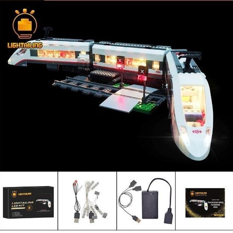 レゴ シティ 60051 ハイスピードパッセンジャートレイン ライトアップセット [LED ライト キット+バッテリーボックス]