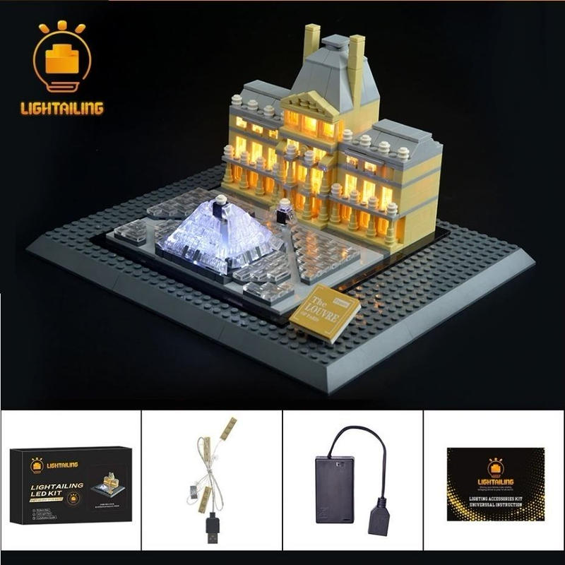 レゴ アーキテクチャー 21024 ルーブル美術館 ライトアップセット [LED ライト キット+バッテリーボックス]