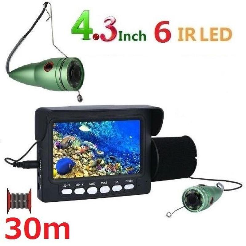 釣竿カメラ 赤外線LED6灯 4.3インチモニター アルミ 水中カメラ 釣りカメラ 30mケーブル GAMWATER