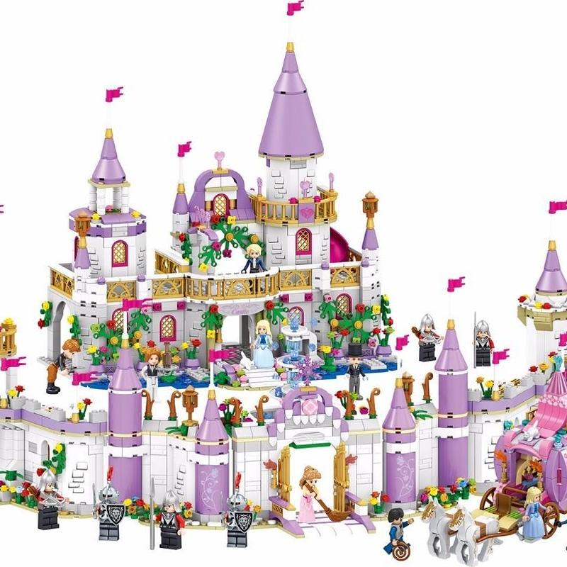 レゴ フレンズ 互換品 ウィンザー城 フルセット 2105ピース ミニフィグ付き (城+馬車+ゲート+城壁左右) プリンセス Windsor Castle 女の子 おもちゃ ブロック