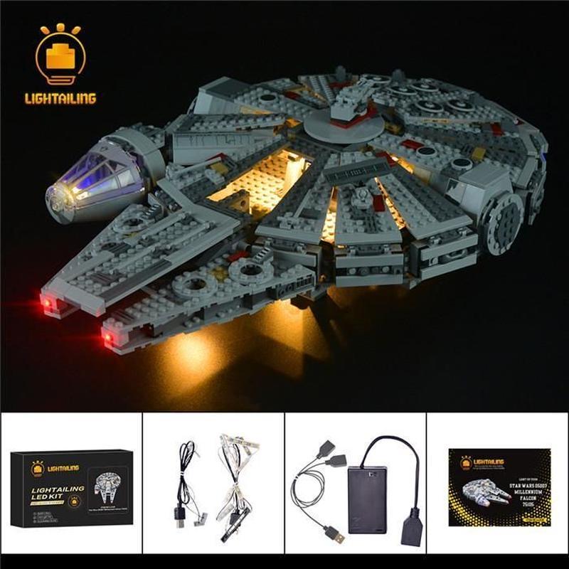 レゴ スター・ウォーズ 75105 ミレニアムファルコン ライトアップセット [LED ライト キット+バッテリーボックス]
