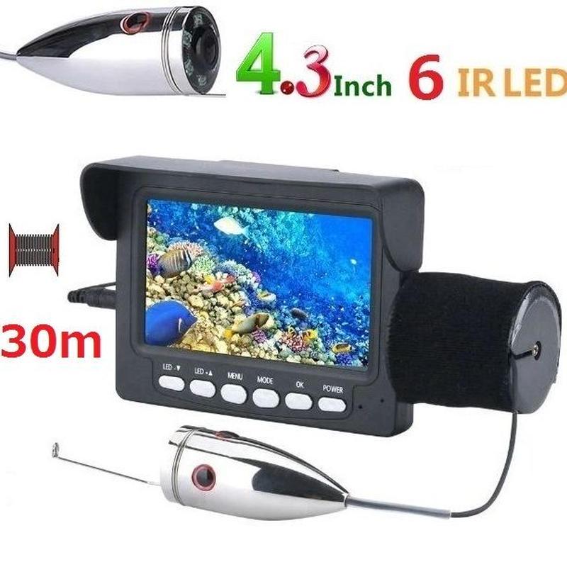 釣竿カメラ 赤外線LED6灯 4.3インチモニター ステンレス 水中カメラ 釣りカメラ 30mケーブル GAMWATER