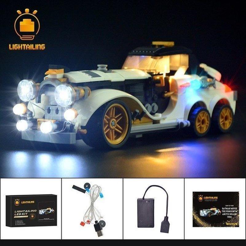 レゴ 70911 バットマン ザ・ムービー ペンギンのアークティック・ ローラー ライトアップセット [LEDライトキット+バッテリーボックス]