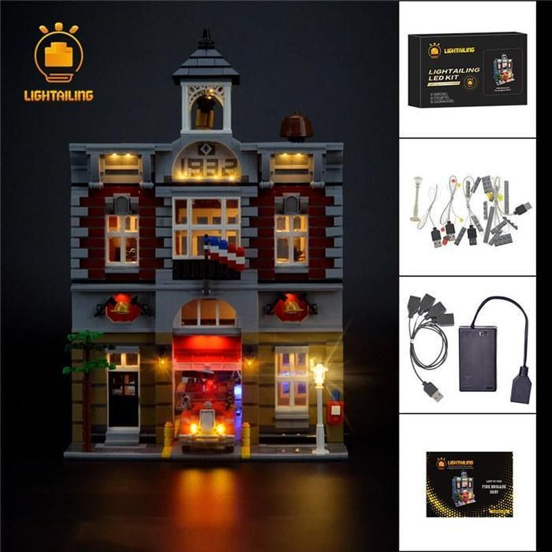レゴ 10197 ファイヤーブリケード 消防署 ライトアップセット [LED ライト キット+バッテリーボックス]