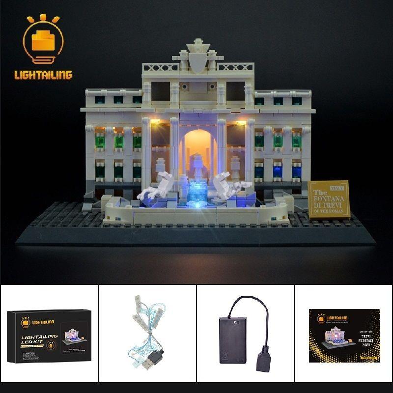 レゴ アーキテクチャ 21020 トレヴィの泉 ライトアップセット [LED ライト キット+バッテリーボックス]