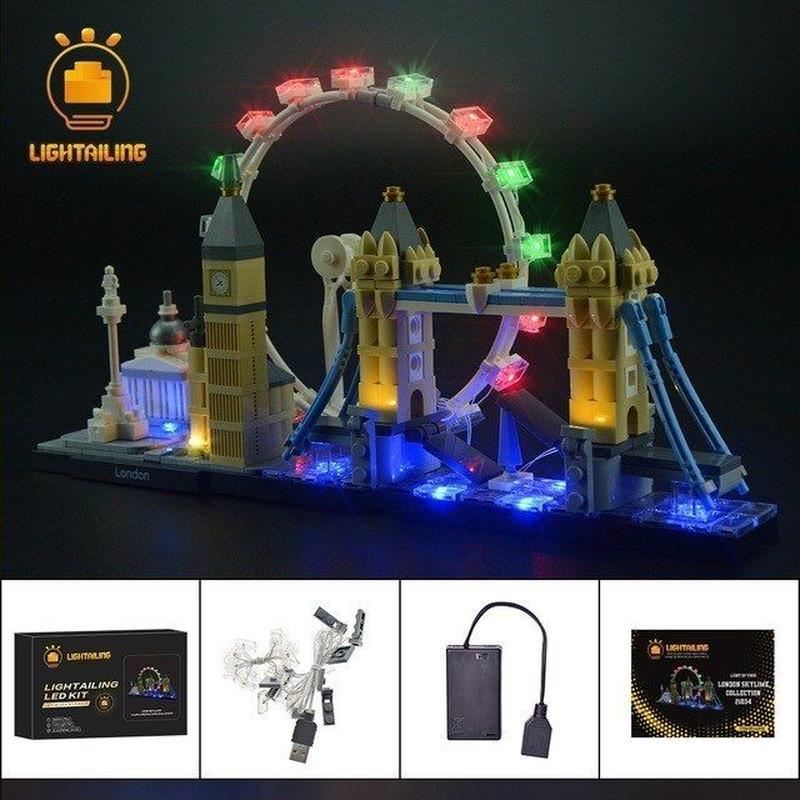 レゴ アーキテクチャー 21034 ロンドンスカイライン ライトアップセット [LED ライト キット+バッテリーボックス]