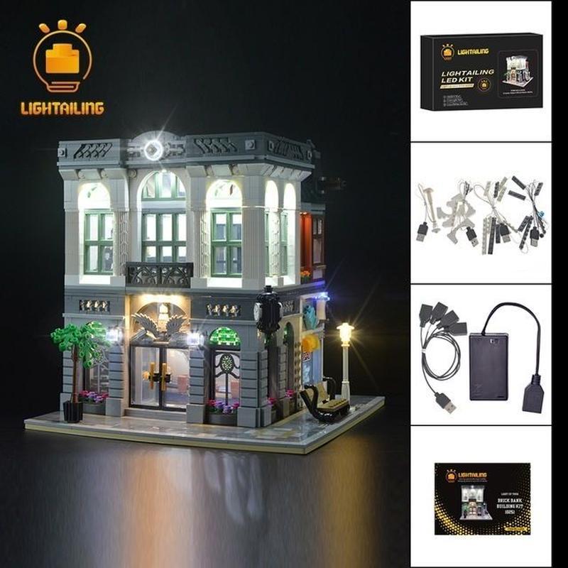 レゴ 10251 ブリック バンク ライトアップセット [LEDライトキット+バッテリーボックス]