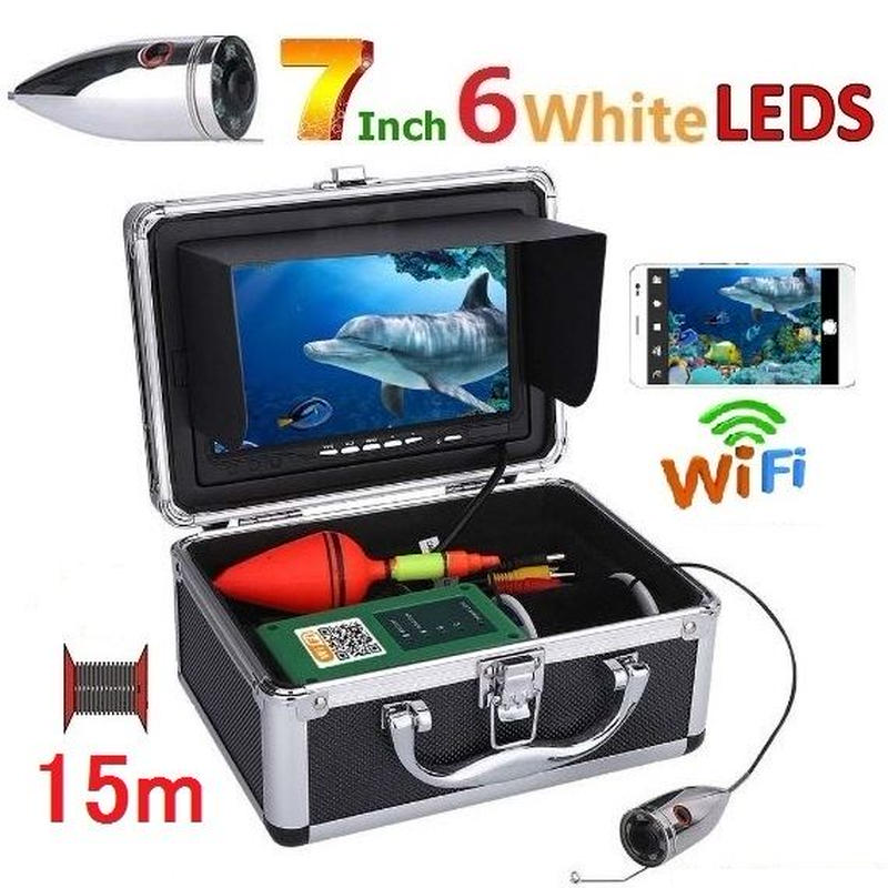 wifi ステンレス 水中カメラ 白色LED6灯 7インチモニター  釣りカメラ 15mケーブル GAMWATER