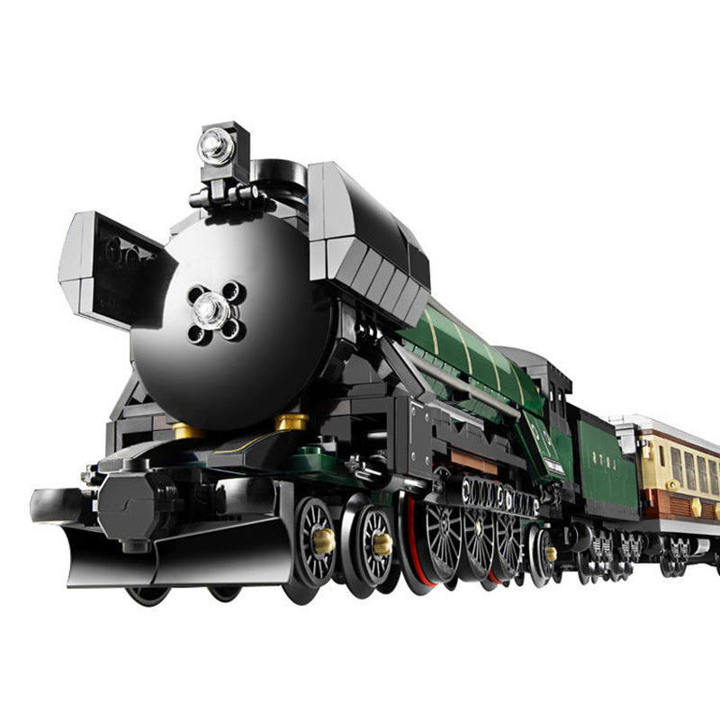 レゴ 10194 クリエイター エメラルド ナイト 互換品 電車 汽車 蒸気機関車 トレイン スチーム  欠パーツ保証 知育玩具