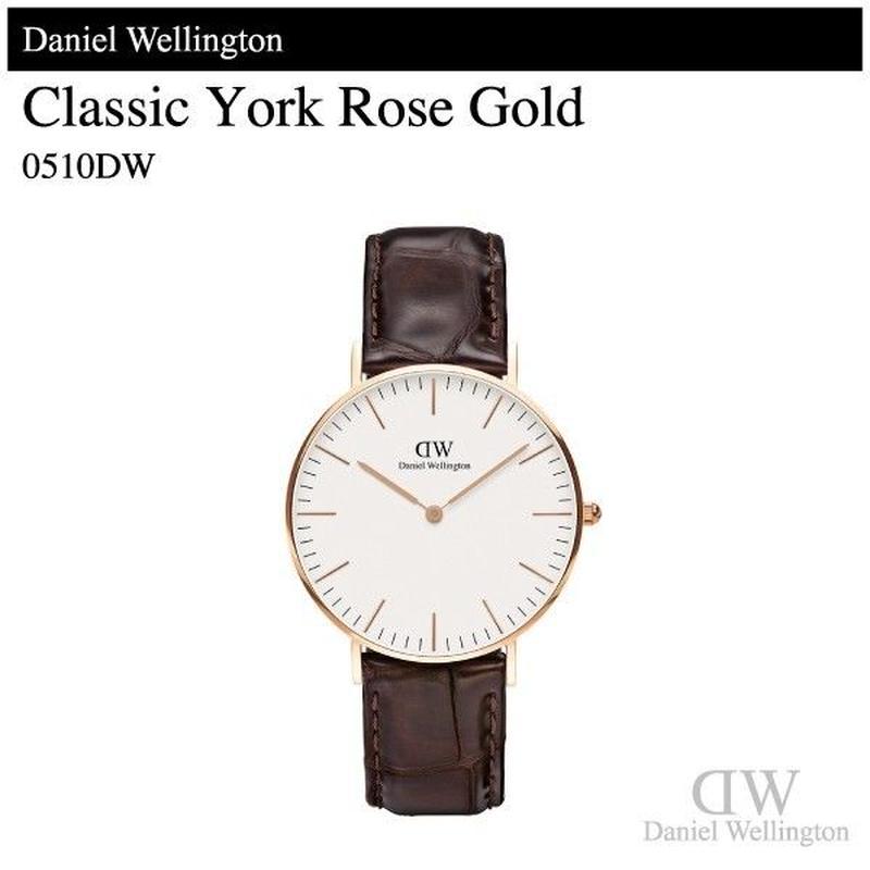 【腕時計】 ダニエル・ウェリントン クラシック ヨーク ローズゴールド 36mm 0510DW