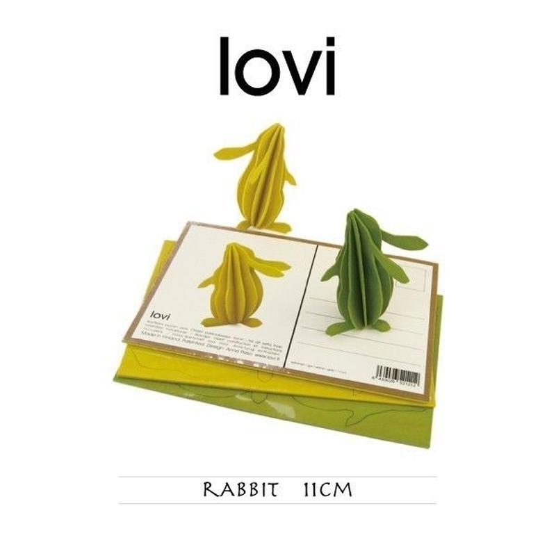 【ポストカード】 lovi(ロヴィ) ラビット ウサギ 11cm