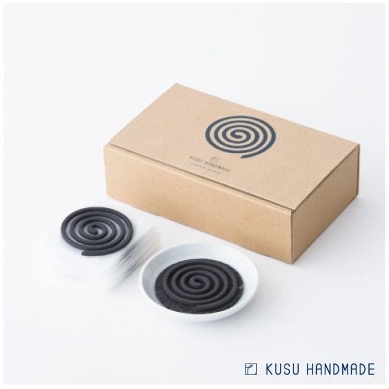 【お香】 クスハンドメイド くすのき香 10巻 + 不燃マット + 香皿