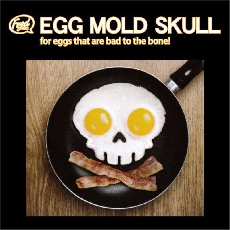 【目玉焼き型】 フレッド エッグモールド スカル