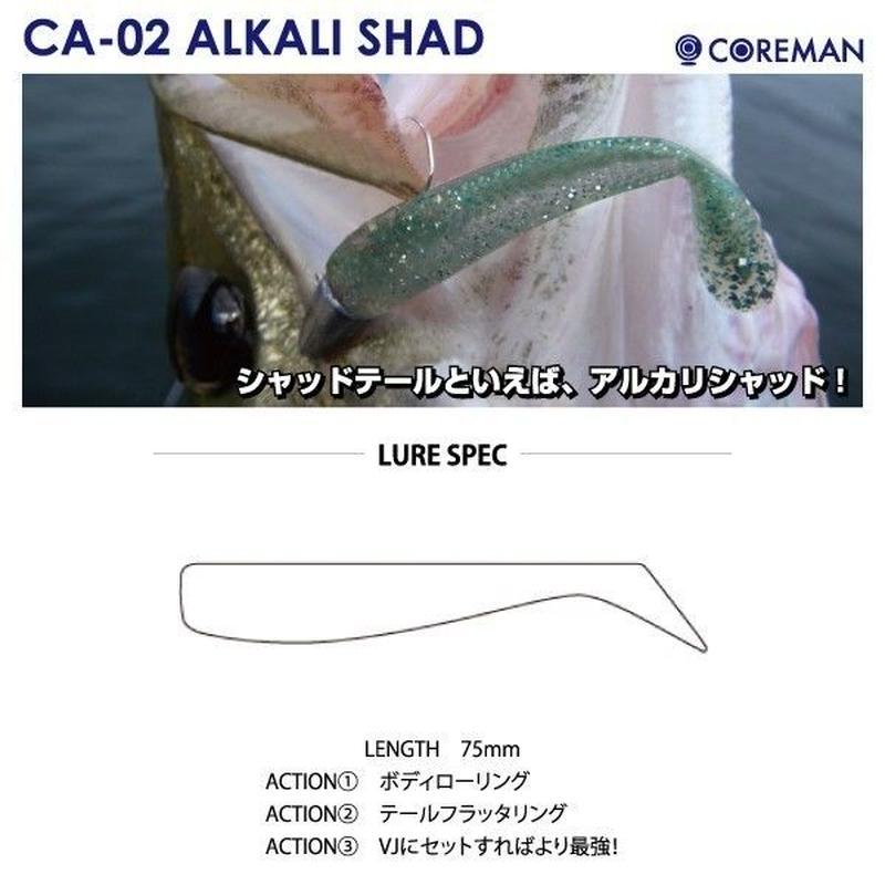 【ルアー】 コアマン CA-02 アルカリシャッド ワーム