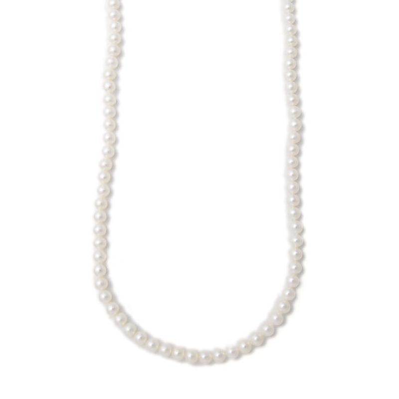 パールネックレス ホワイト 5.0-5.5mm/120cm