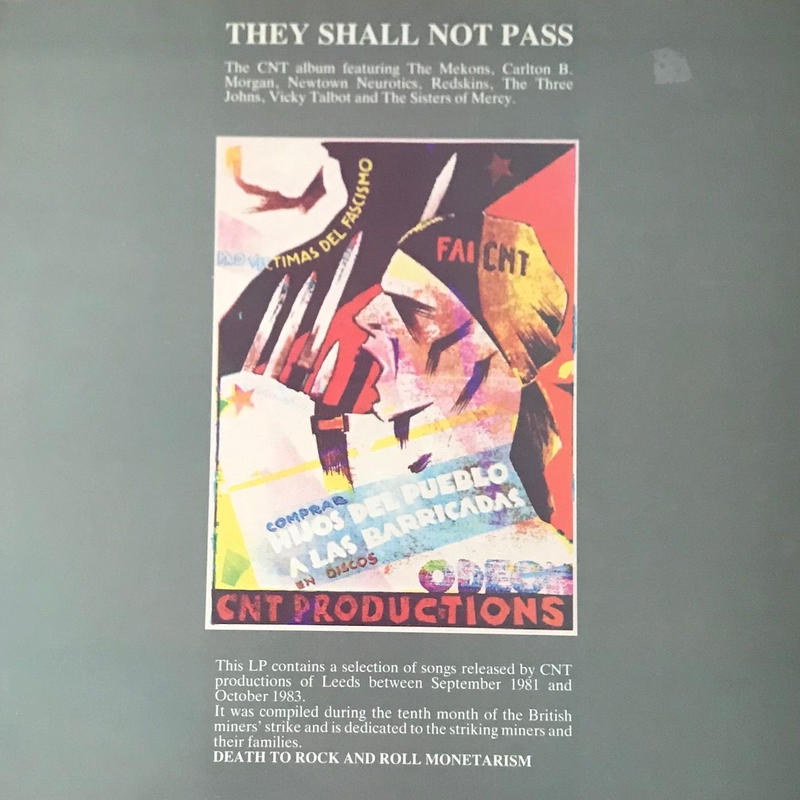 Various - They Shall Not Pass [LP][Abstract Sounds] ⇨ポンコツ、コールド、狂気、ポストパンクの醍醐味がたっぷりコンピ