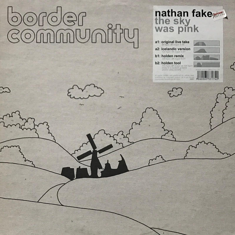 Nathan Fake - The Sky Was Pink [12][Border Community] ⇨スペーシーサイケな James Holden Remix 収録!