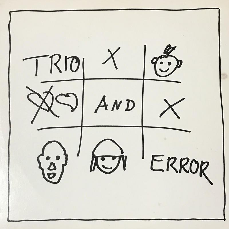 Trio - Trio And Error [LP][Mercury] ⇨チャカチャカ、ポコポコのぬるま湯系脱力ジャーマンニューウェーブが愛おしくたまらない!