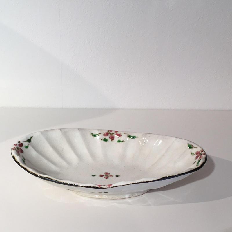 鉄色絵楕円鉢「作家 藤田佳三」