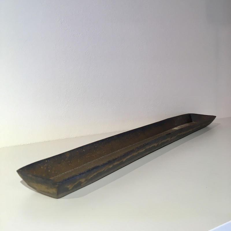 銅彩釉長角皿(深・大)「作家 水野幸一」