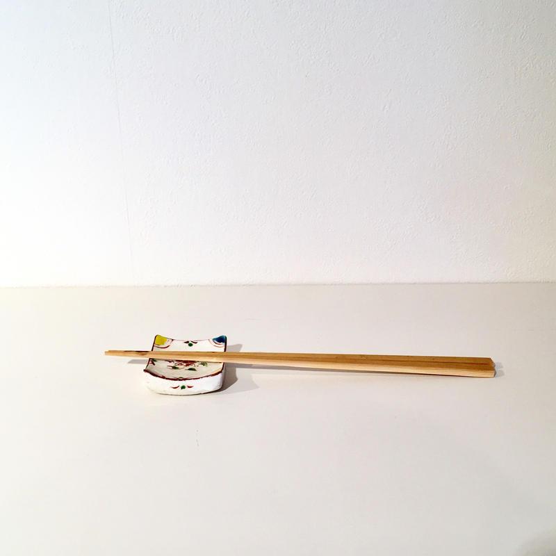 色絵箸置「作家 藤田佳三」