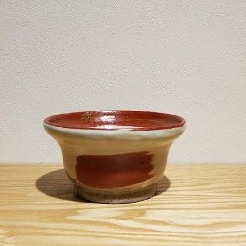 赤巻き緑鉢「作家 奥田美恵子」(No.14)