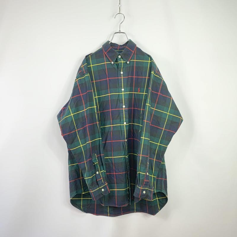 【POLO RALPH LAUREN】Button-down check shirt