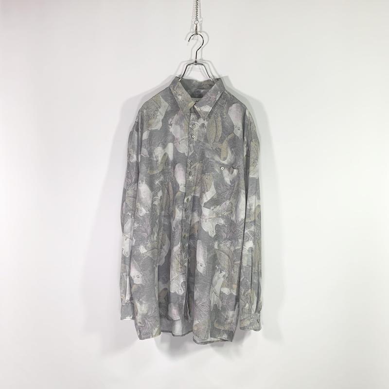 Gray color design shirt