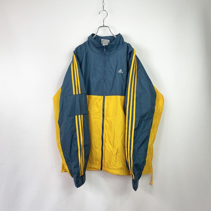 【adidas】Switching design  nylon jacket