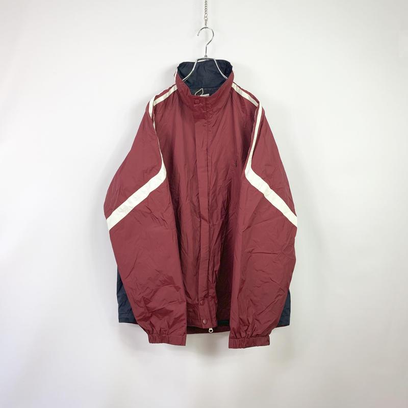 【NAUTICA】Bordeaux color nylon jacket