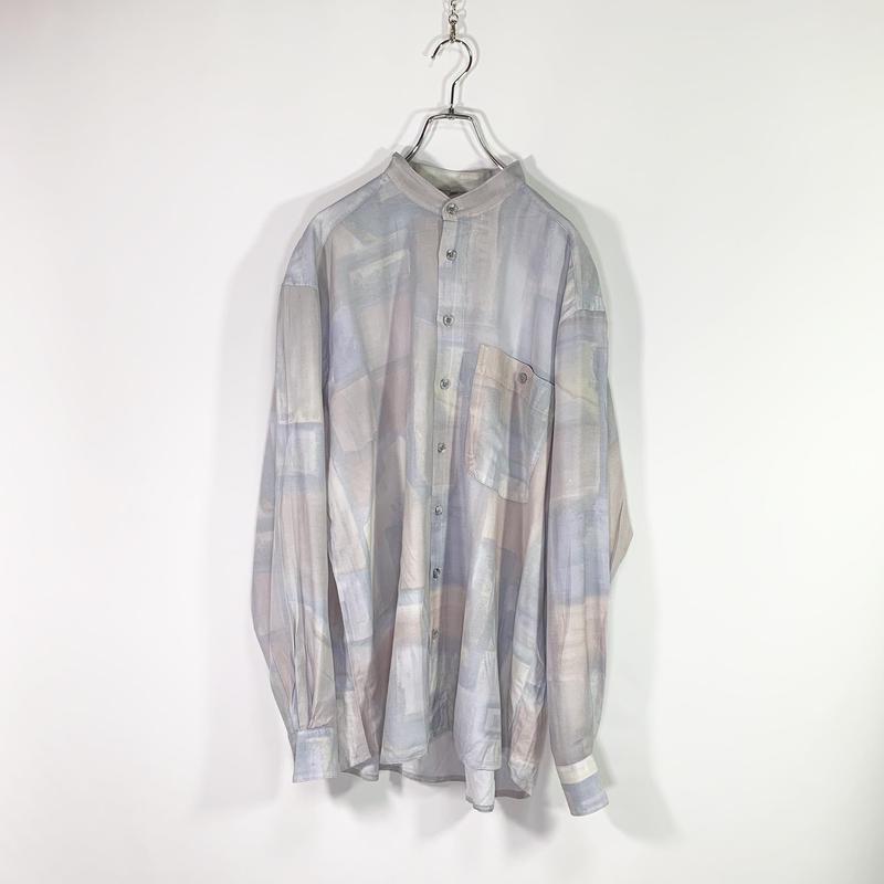 Multi design nocollar shirt