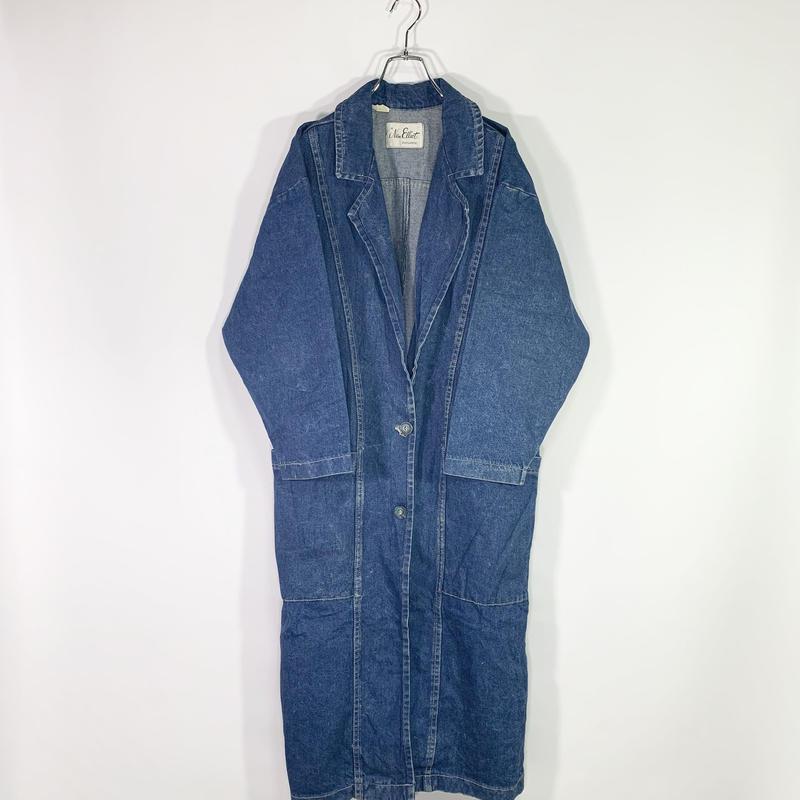 Denim chester coat