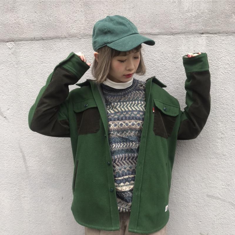 Dickies green×brown jacket