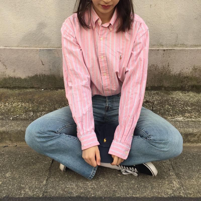 Polo pink strip shirts