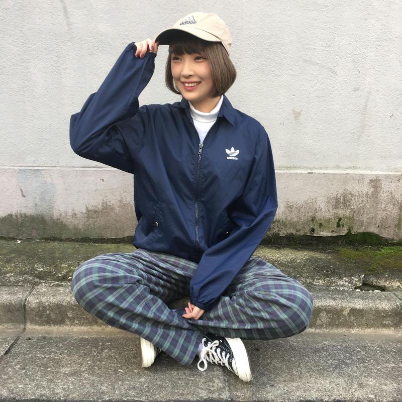 Adidas back logo print nylon jacket
