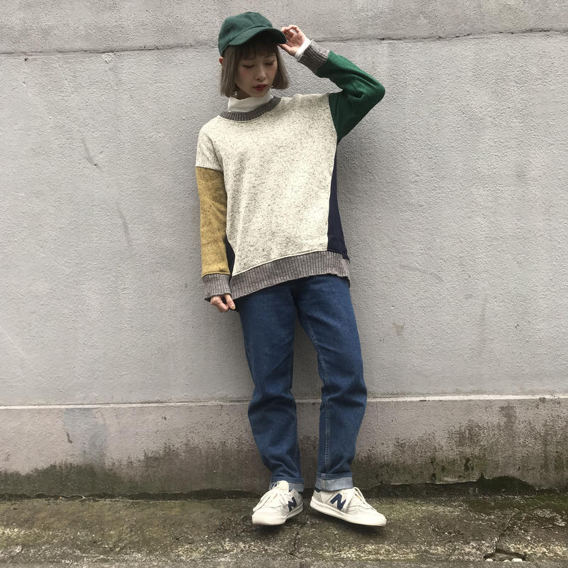 Color switching knit