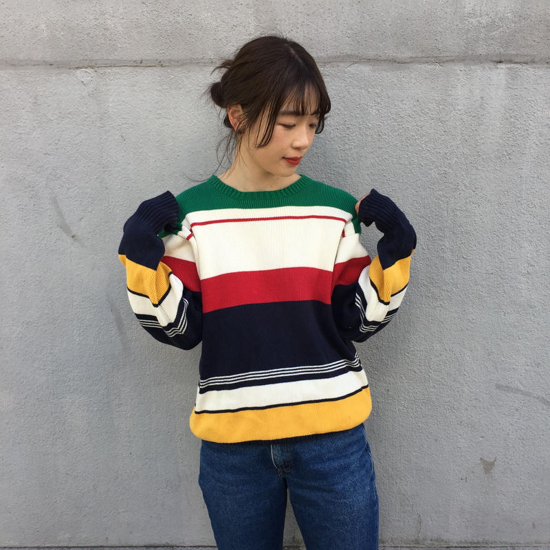 Polo colorful border knit