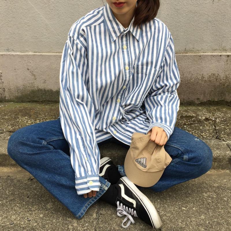 Nautica light blue strip shirts