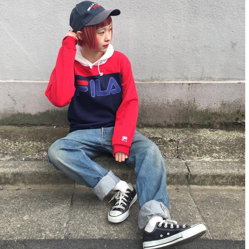 Fila three color hoodie