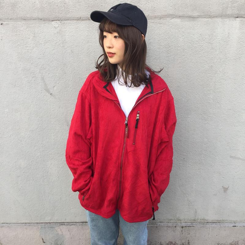 L.L.Bean red pocket fleece
