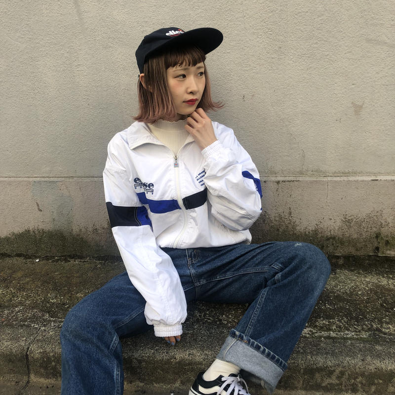 Ellese white blue nylon jacket
